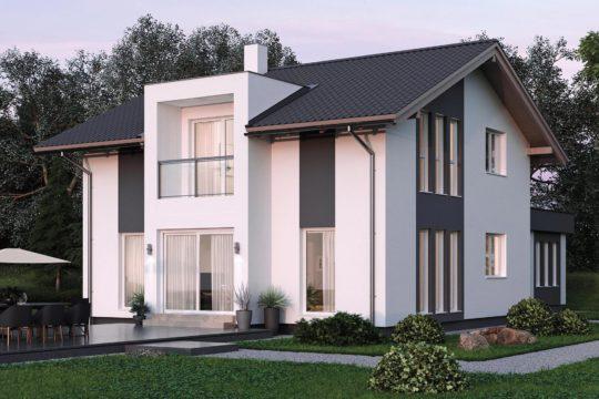 ELK Haus 153 - Eine große Wiese vor einem Haus - ELK Fertighaus GmbH