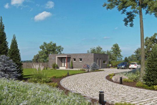 Haas BT 84 A - Ein Haus mit Bäumen im Hintergrund - Einfamilienhaus