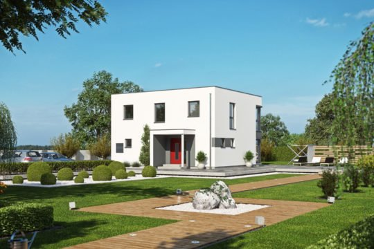Haas S 155 A - Ein großes Backsteingebäude mit Gras vor einem Haus - Thomas-Mann-Haus