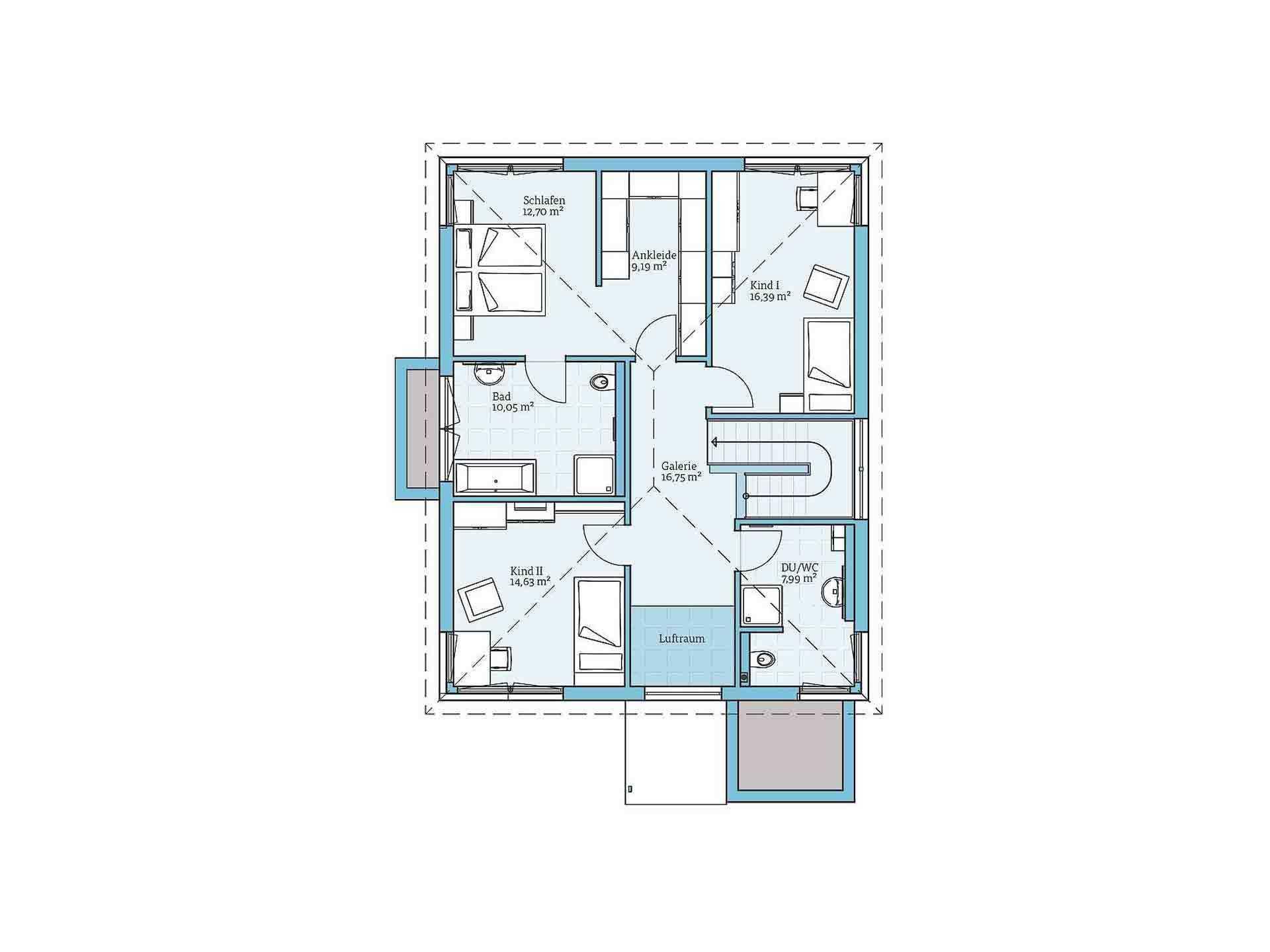 Fertighaus Villa 189 - Eine nahaufnahme von text auf einem weißen hintergrund - Gebäudeplan