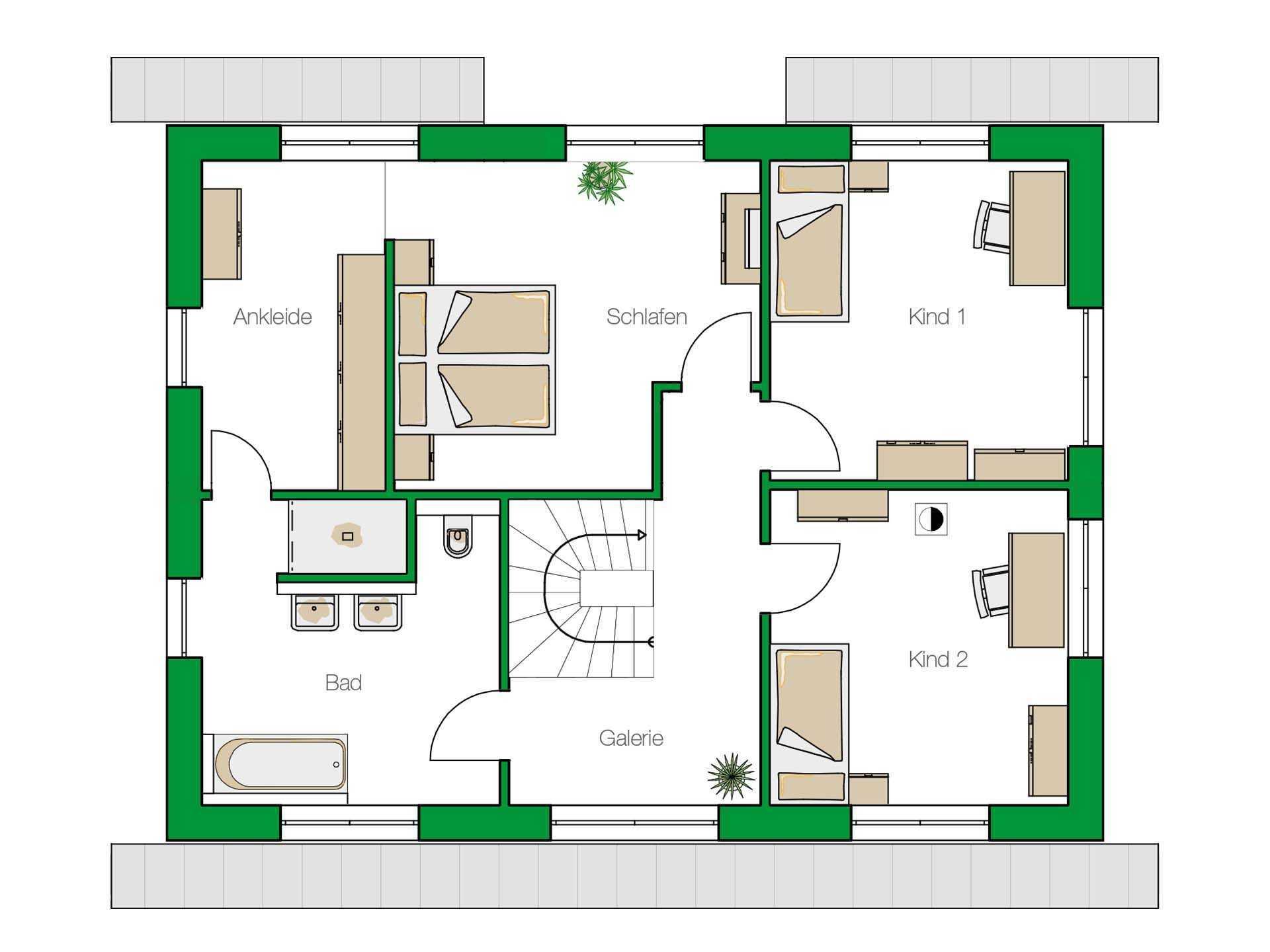 Einfamilienhaus Trient - Ein Screenshot eines Videospiels - Gebäudeplan