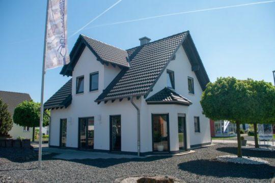 Automatisch gespeicherter Entwurf - Ein Baum vor einem Haus mit Amelia Earhart Birthplace im Hintergrund - Massivhaus Mittelrhein - Musterhaus Mülheim-Kärlich