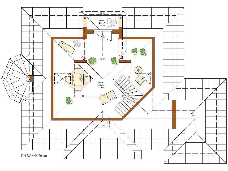 Musterhaus Riviera - Eine Nahaufnahme von einer Karte - Gebäudeplan