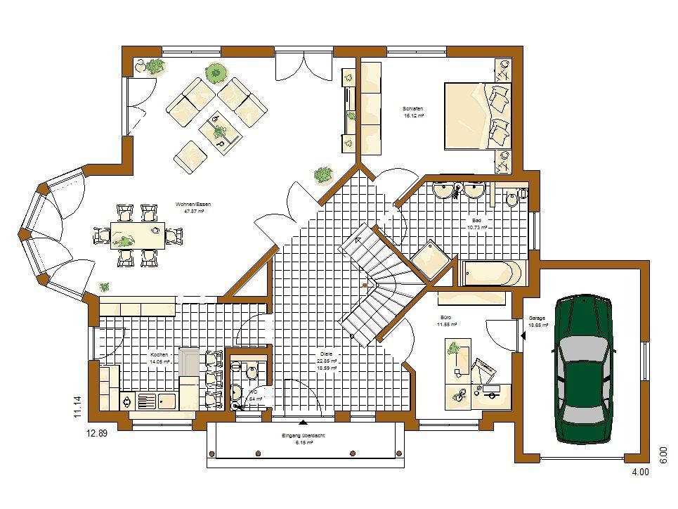 Musterhaus Riviera - Eine Nahaufnahme von einer Karte - Bungalow