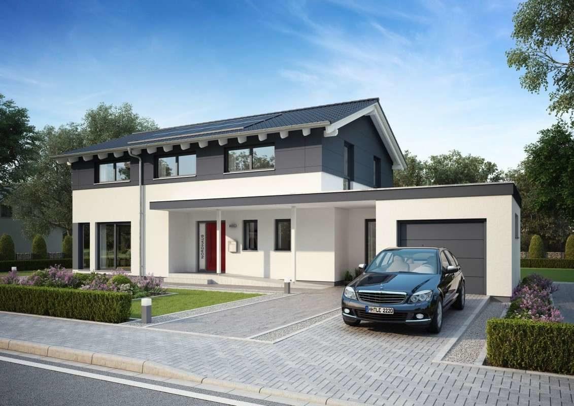 Automatisch gespeicherter Entwurf - Ein Auto vor einem Haus geparkt - Haus