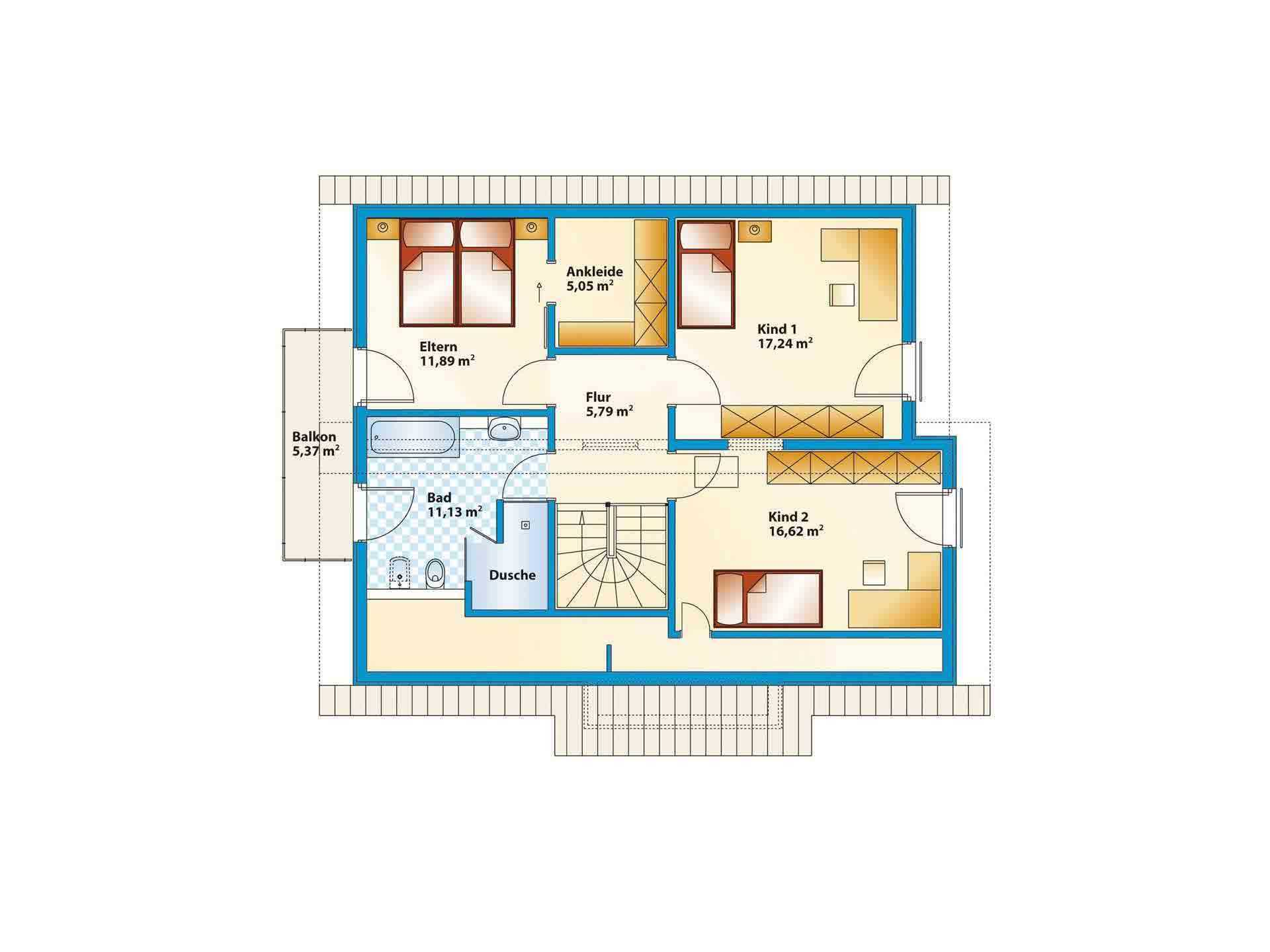 Musterhaus Jazz - Gebäudeplan