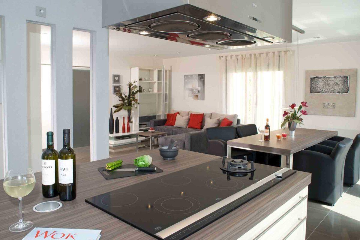 Musterhaus Jazz - Eine Ansicht einer Küchentheke - Interior Design Services
