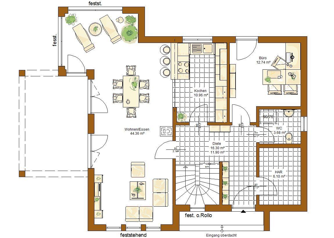 Musterhaus Stockholm - Eine Nahaufnahme von einer Karte - Gebäudeplan