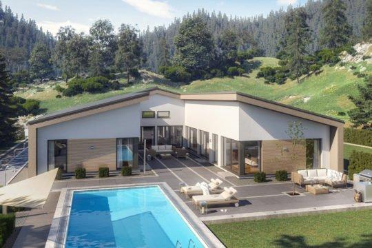 AMBIENCE 209 SD - Ein Haus mit Bäumen im Hintergrund - Bungalow