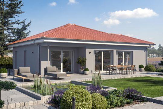 Automatisch gespeicherter Entwurf - Ein Haus mit Büschen vor einem Backsteingebäude - Bungalow
