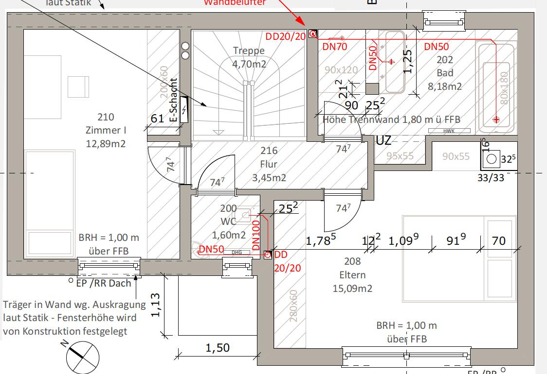 Kundenhaus Oliveira - Eine Nahaufnahme von einer Karte - Gebäudeplan