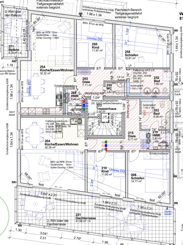 Kundenhaus Verges - Eine Nahaufnahme von einer Karte - Gebäudeplan