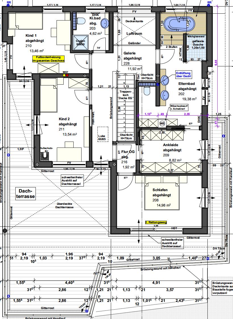 Kundenhaus Villa in den Weinbergen - Eine Nahaufnahme von einer Karte - Gebäudeplan