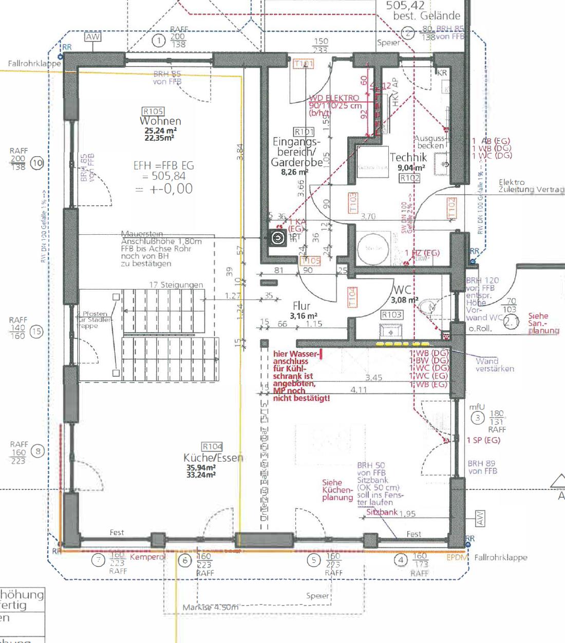 Kundenhaus U237 - Eine Nahaufnahme von einer Karte - Gebäudeplan