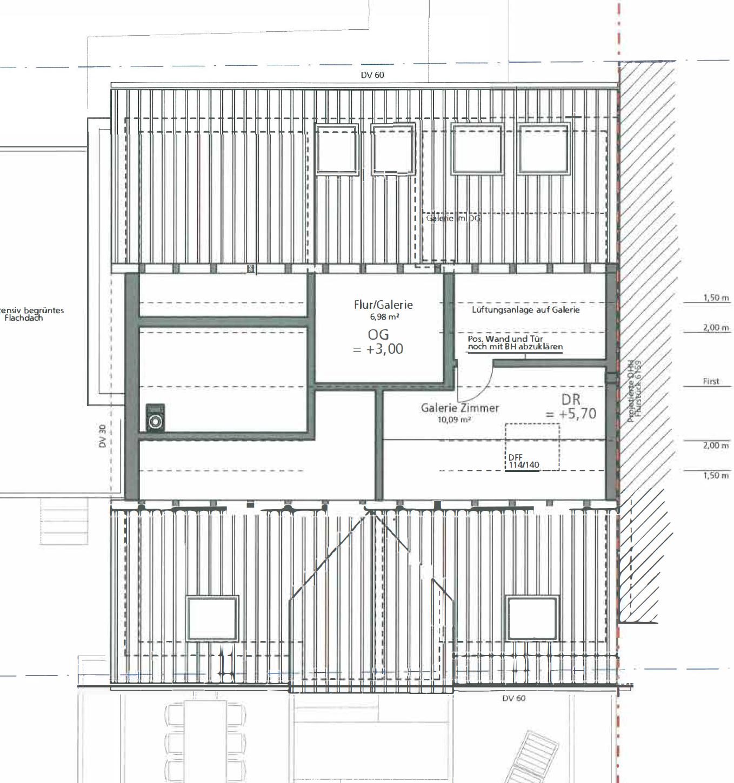 Haus U120 - Eine Nahaufnahme einer Uhr - Gebäudeplan