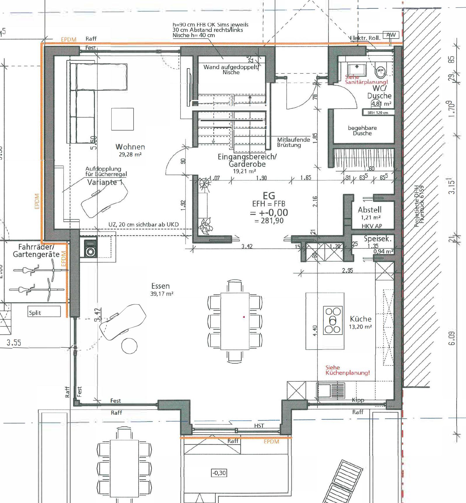 Haus U120 - Eine Nahaufnahme von einer Karte - Mietwohnungen