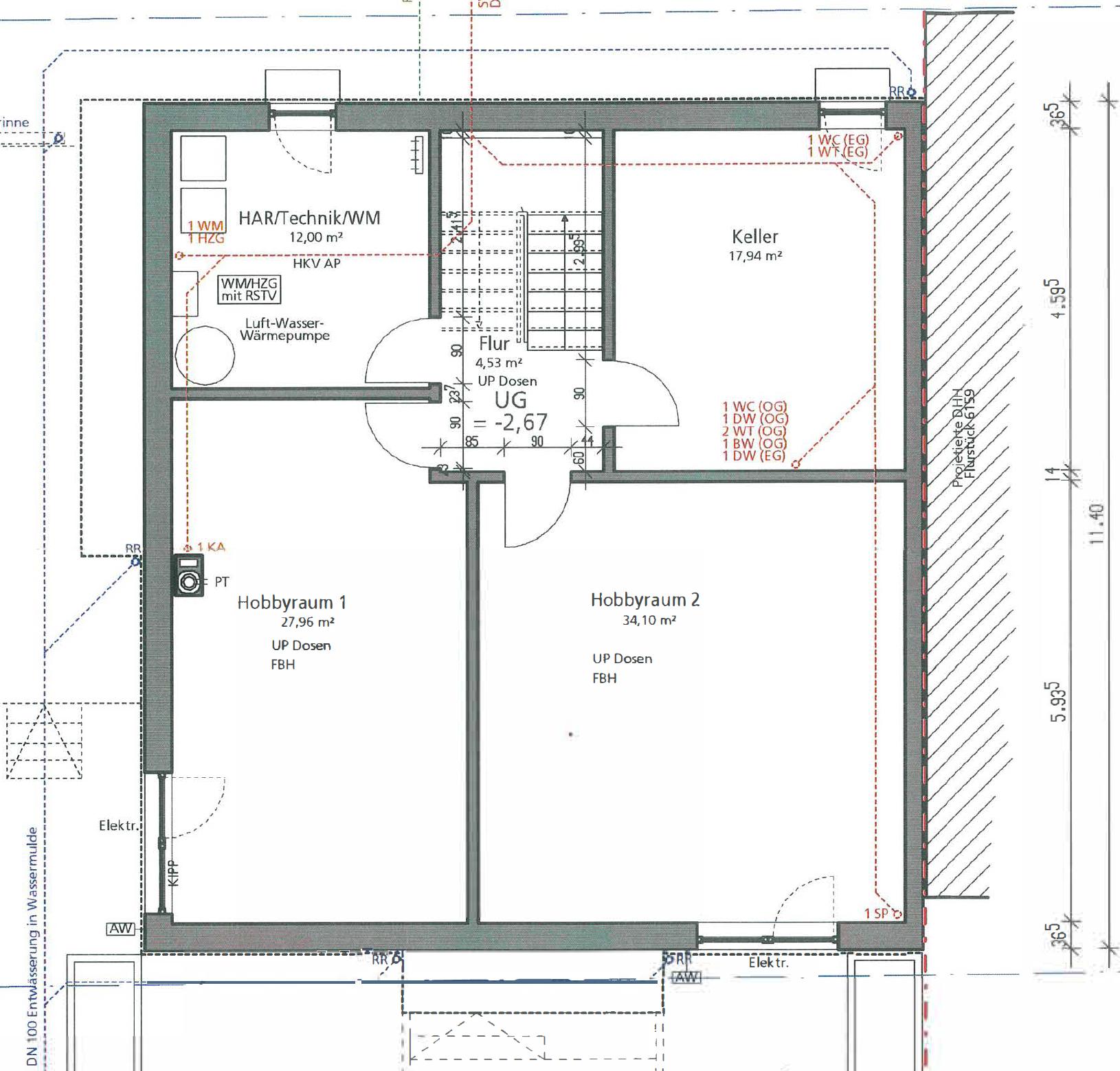Haus U120 - Eine Nahaufnahme von einer Karte - Gebäudeplan