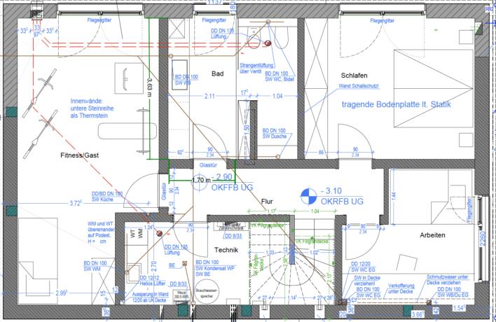 Kundenhaus Schaub - Eine Nahaufnahme von einer Karte - Gebäudeplan