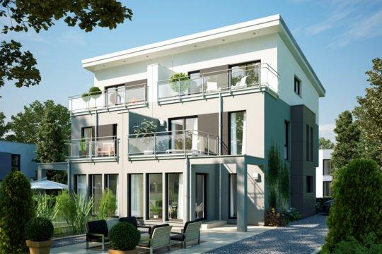 CELEBRATION 114 V7 XL - Ein großes weißes Haus mit Garden District im Hintergrund - Geschossig
