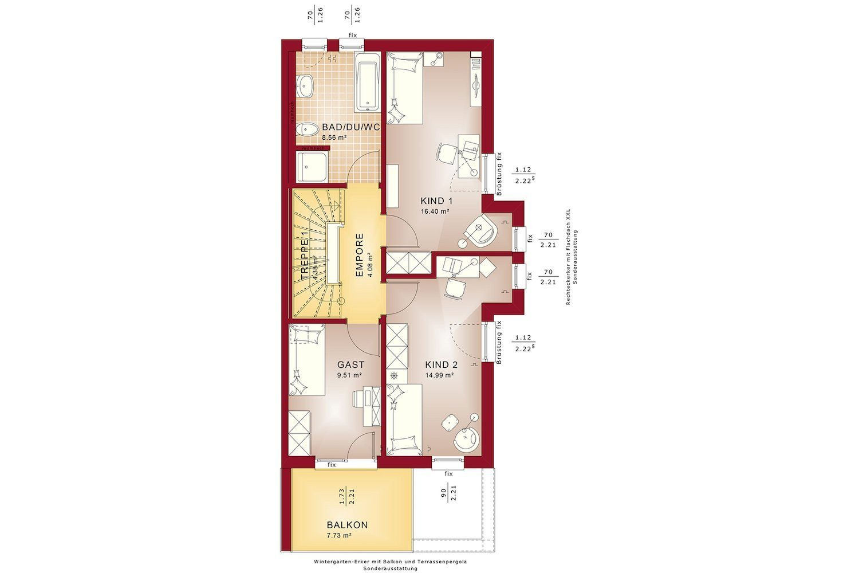 CELEBRATION 114 V7 XL - Gebäudeplan