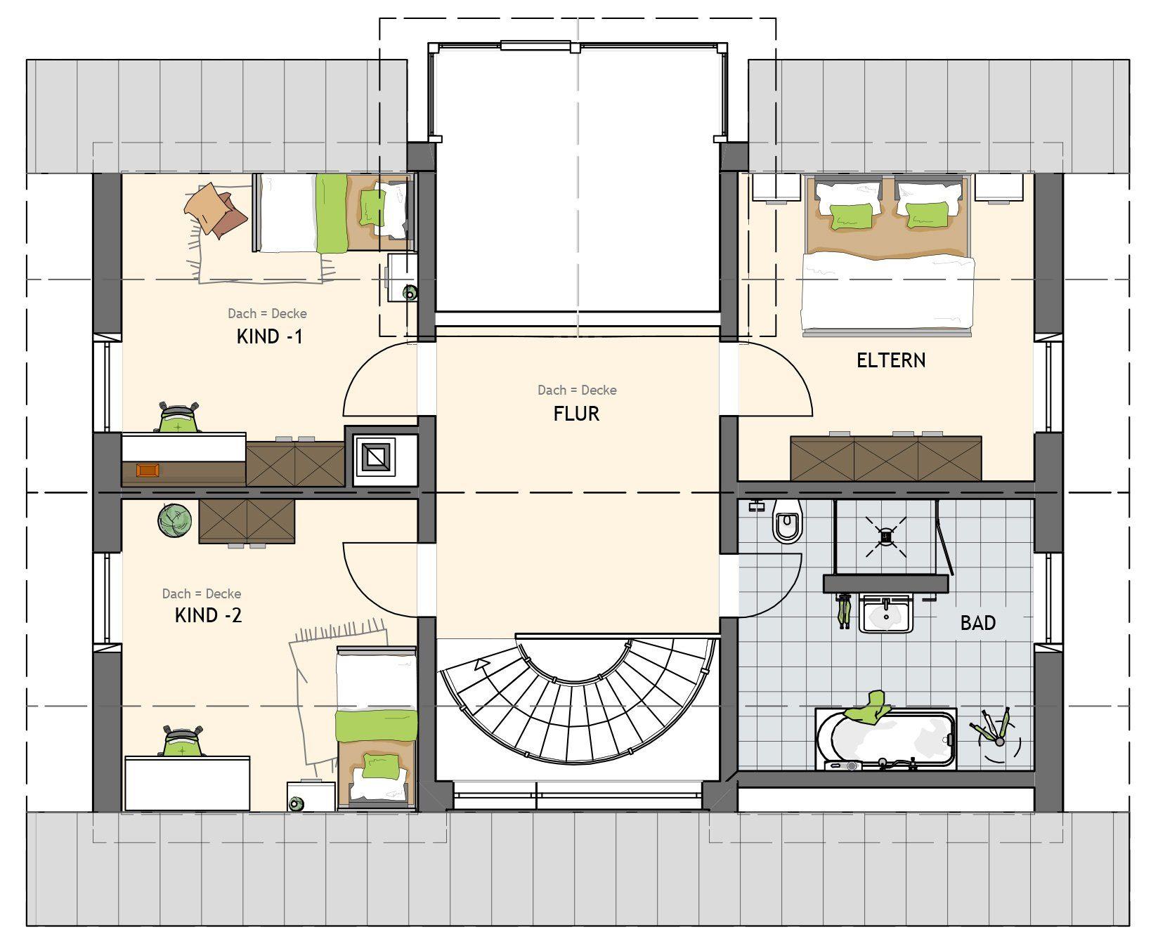 Kundehaus frei geplant - Eine Nahaufnahme von einer Karte - Gebäudeplan