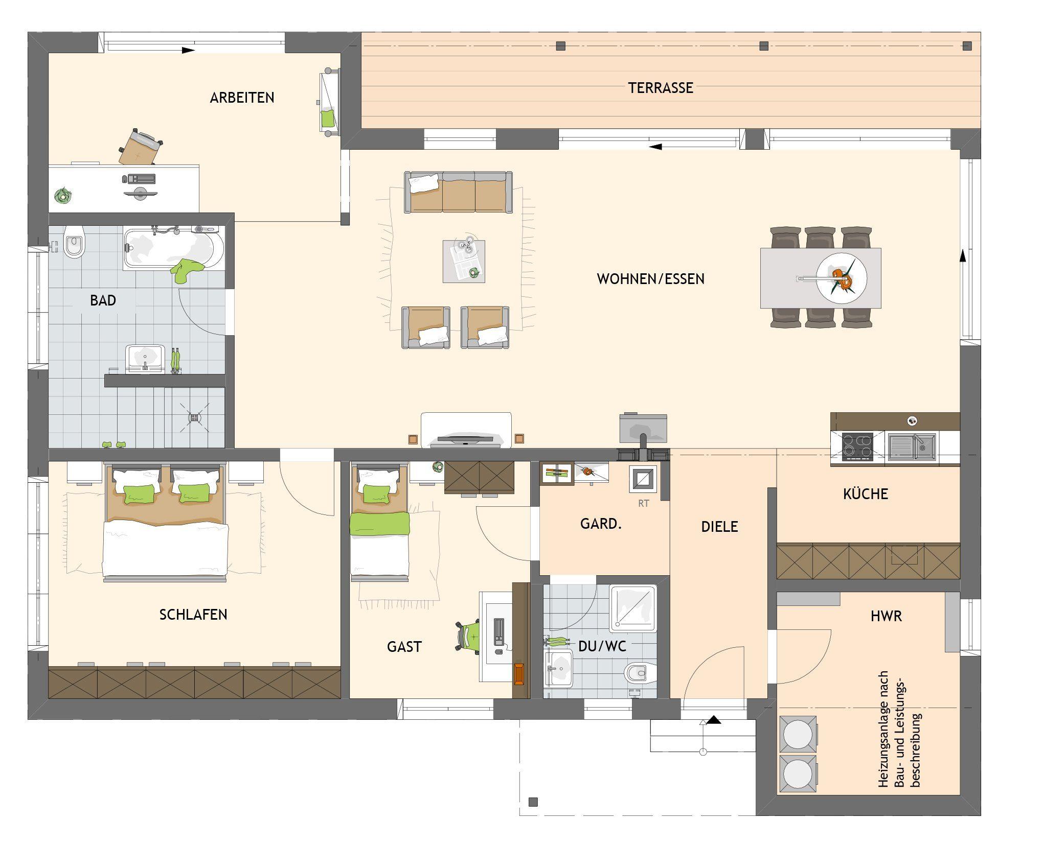 Kundenhaus NIVO - Ein Screenshot eines Videospiels - Gebäudeplan