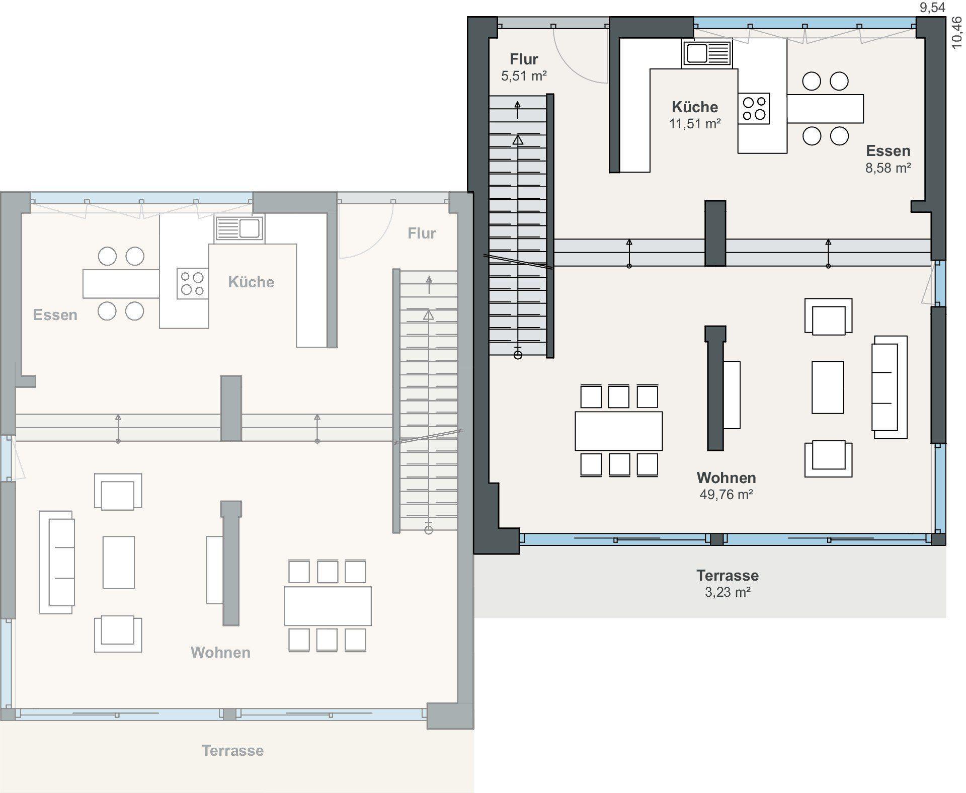 Kundenhaus Ovenstone - Ein Screenshot eines Handys - Gebäudeplan