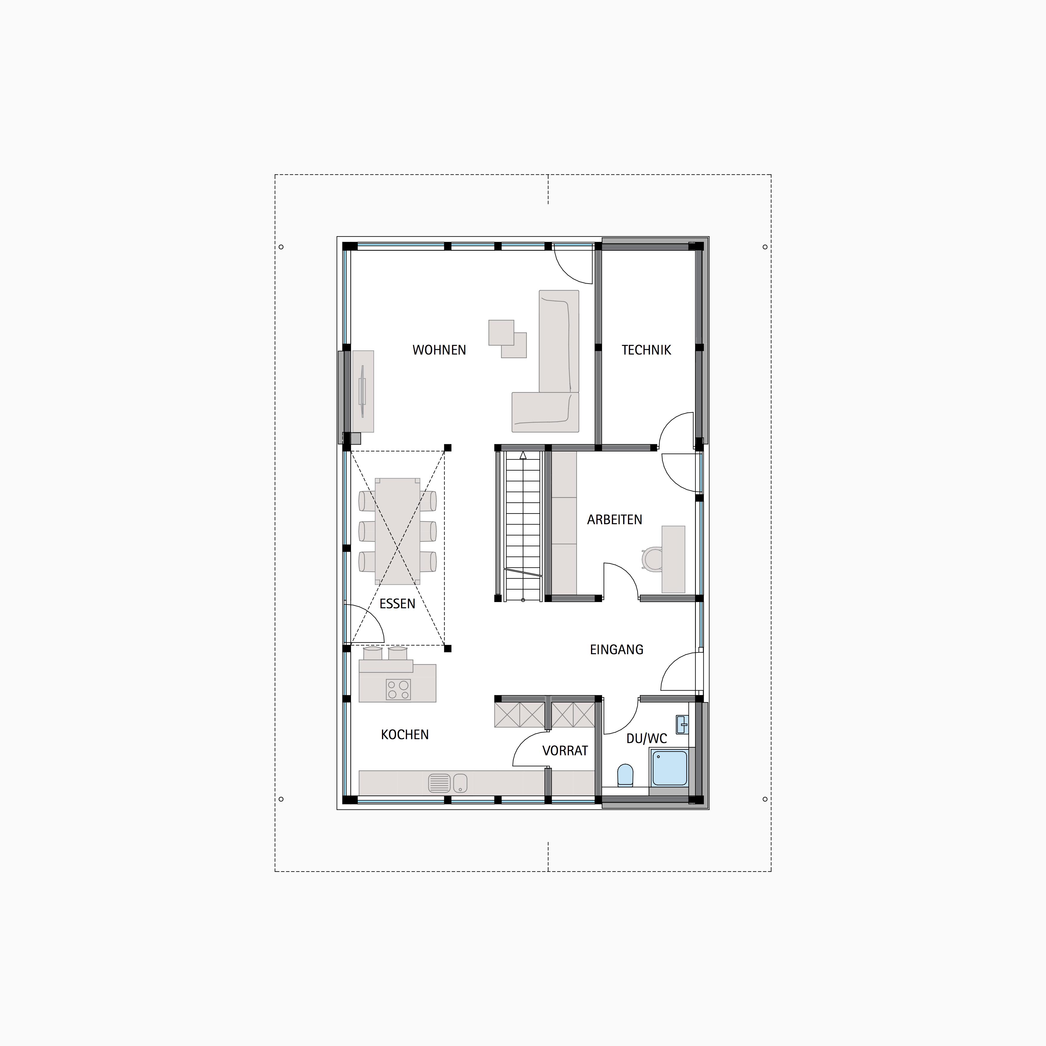 HUF HAUS MODUM 7 - Eine Nahaufnahme eines Geräts - Gebäudeplan