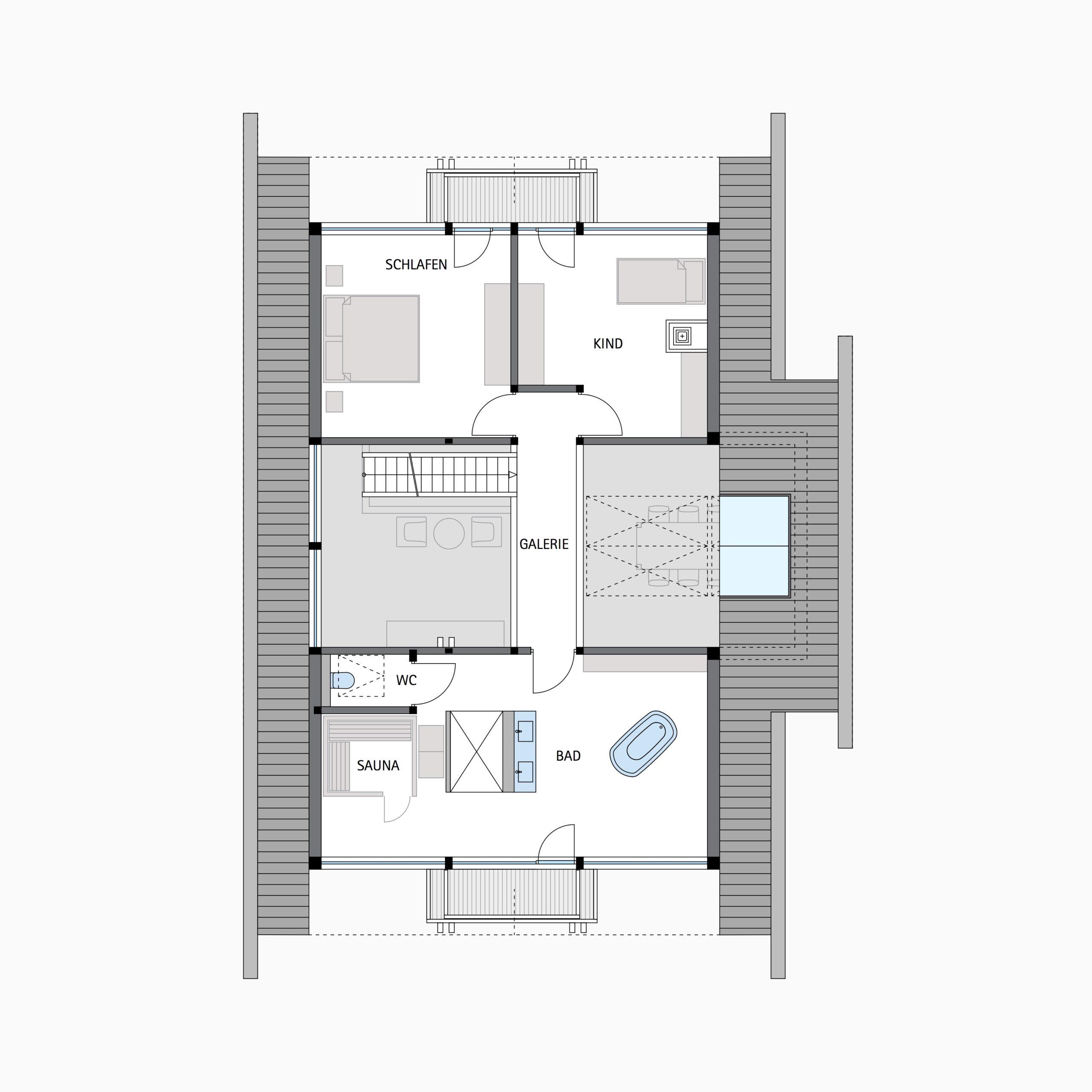 HUF HAUS ART 3 - Eine Nahaufnahme von einem Logo - Gebäudeplan