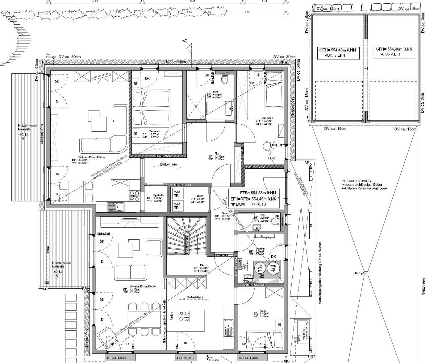 Kundenhaus Koenigs - Eine Nahaufnahme von einer Karte - Gebäudeplan