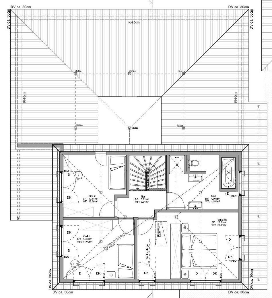Kundenhaus Koenigs - Eine Zeichnung einer Person - Gebäudeplan