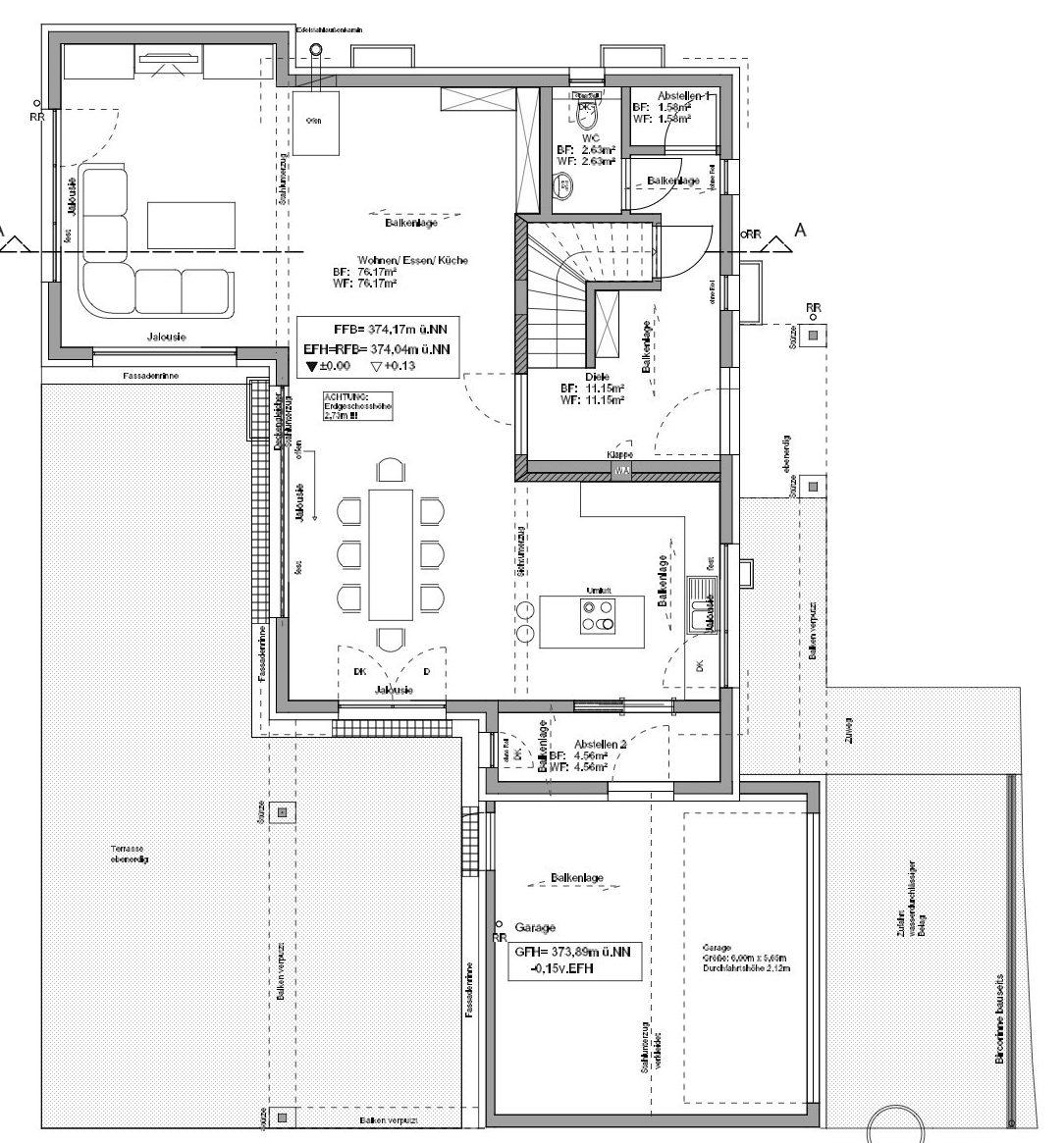 Kundenhaus Mahl - Eine Nahaufnahme von einer Karte - Gebäudeplan