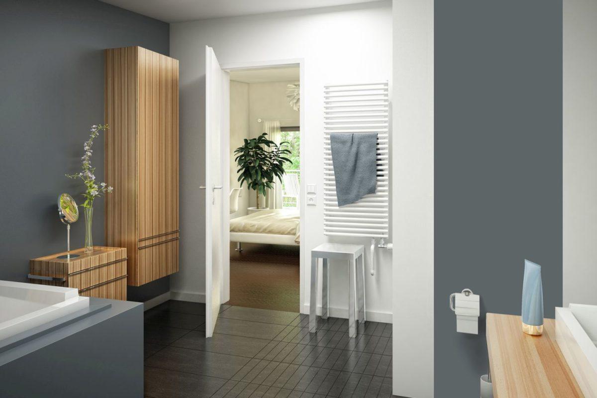Automatisch gespeicherter Entwurf - Ein zimmer mit waschbecken und spiegel - Haus
