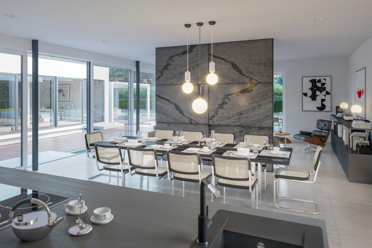 AMBIENCE 209 FD - Ein Wohnzimmer mit Möbeln und einem großen Fenster - Bungalow