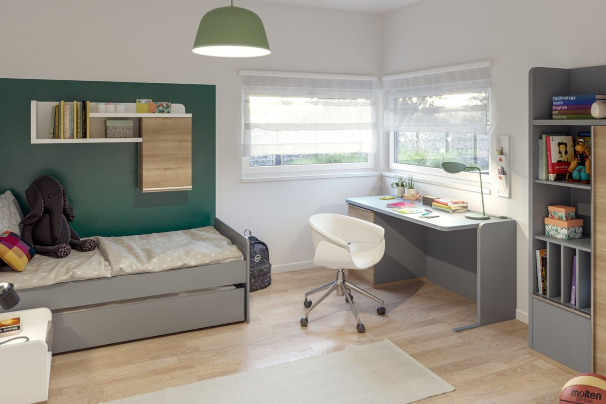 AMBIENCE 110 V2 - Ein Wohnzimmer mit Möbeln und einem großen Fenster - Bien-Zenker