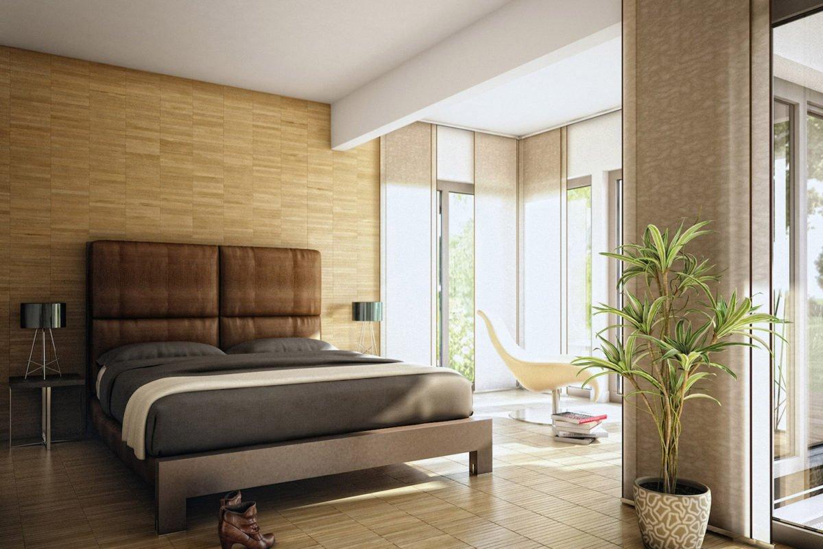 AMBIENCE 100 V5 - Ein Wohnzimmer mit Möbeln und einem großen Fenster - Gebäudeplan