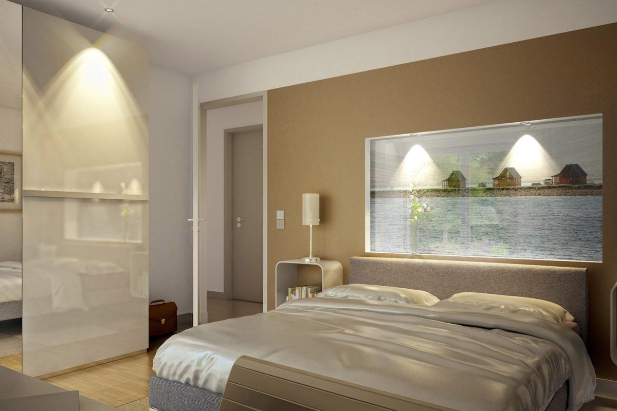 Automatisch gespeicherter Entwurf - Ein Schlafzimmer mit einem großen Bett in einem Hotelzimmer - Bien-Zenker