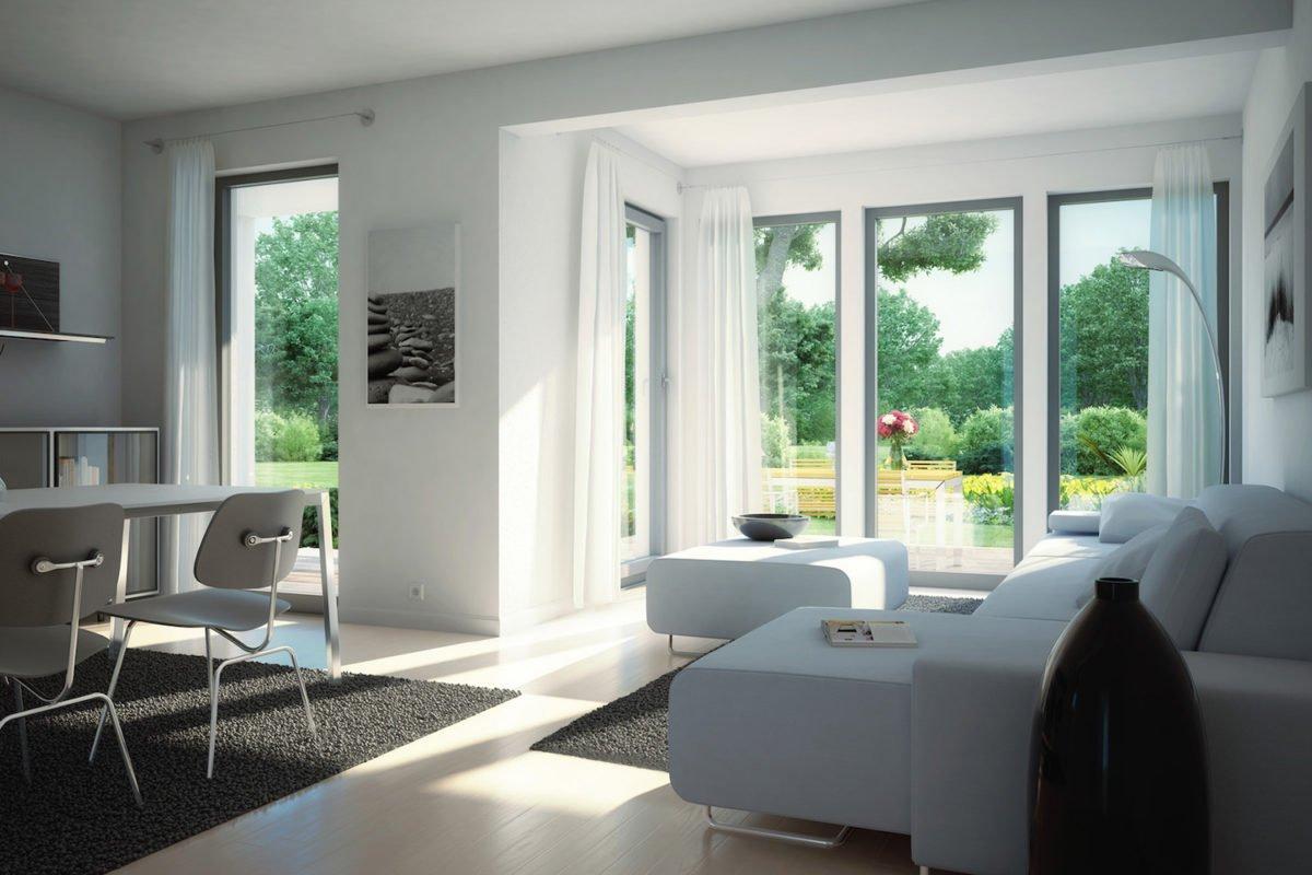 CELEBRATION 114 V5 L - Eine Ansicht eines mit Möbeln gefüllten Wohnzimmers und eines großen Fensters - Bien-Zenker