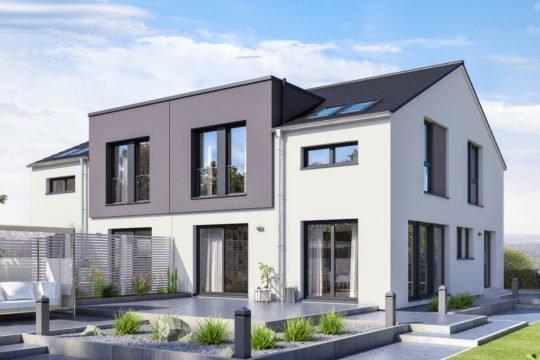 Automatisch gespeicherter Entwurf - Ein großes weißes Haus - Duplex