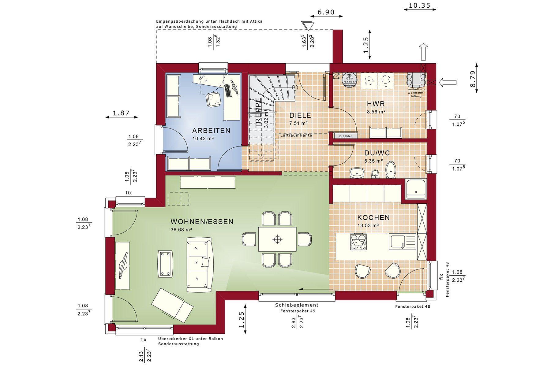 CONCEPT-M 145 Zweibruecken - Ein Screenshot eines Videospiels - Gebäudeplan