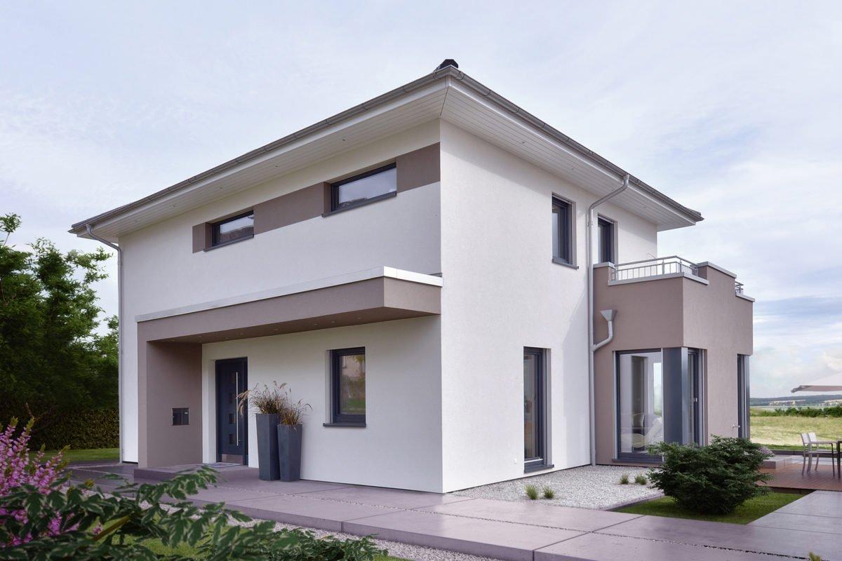Automatisch gespeicherter Entwurf - Eine Person, die vor einem Haus steht - Fassade
