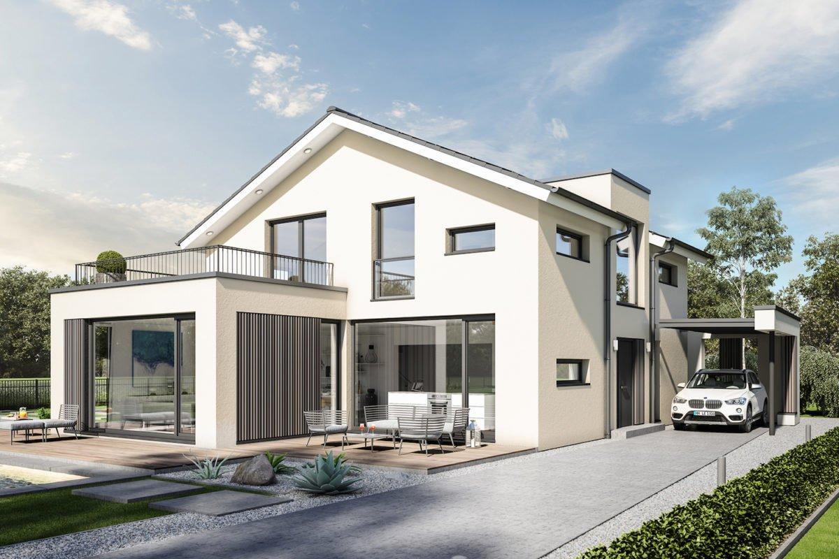 CONCEPT-M 154 Hannover - Ein Haus, das an der Seite eines Gebäudes geparkt ist - Haus