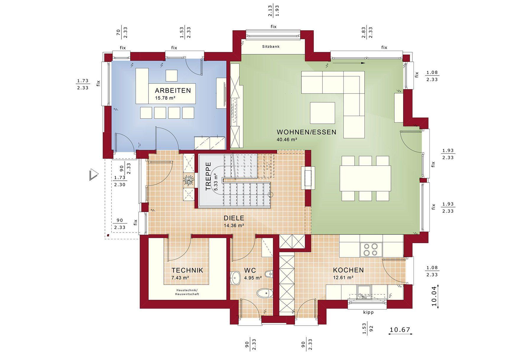 CONCEPT-M 163 Dresden - Ein roter und schwarzer Text - Gebäudeplan