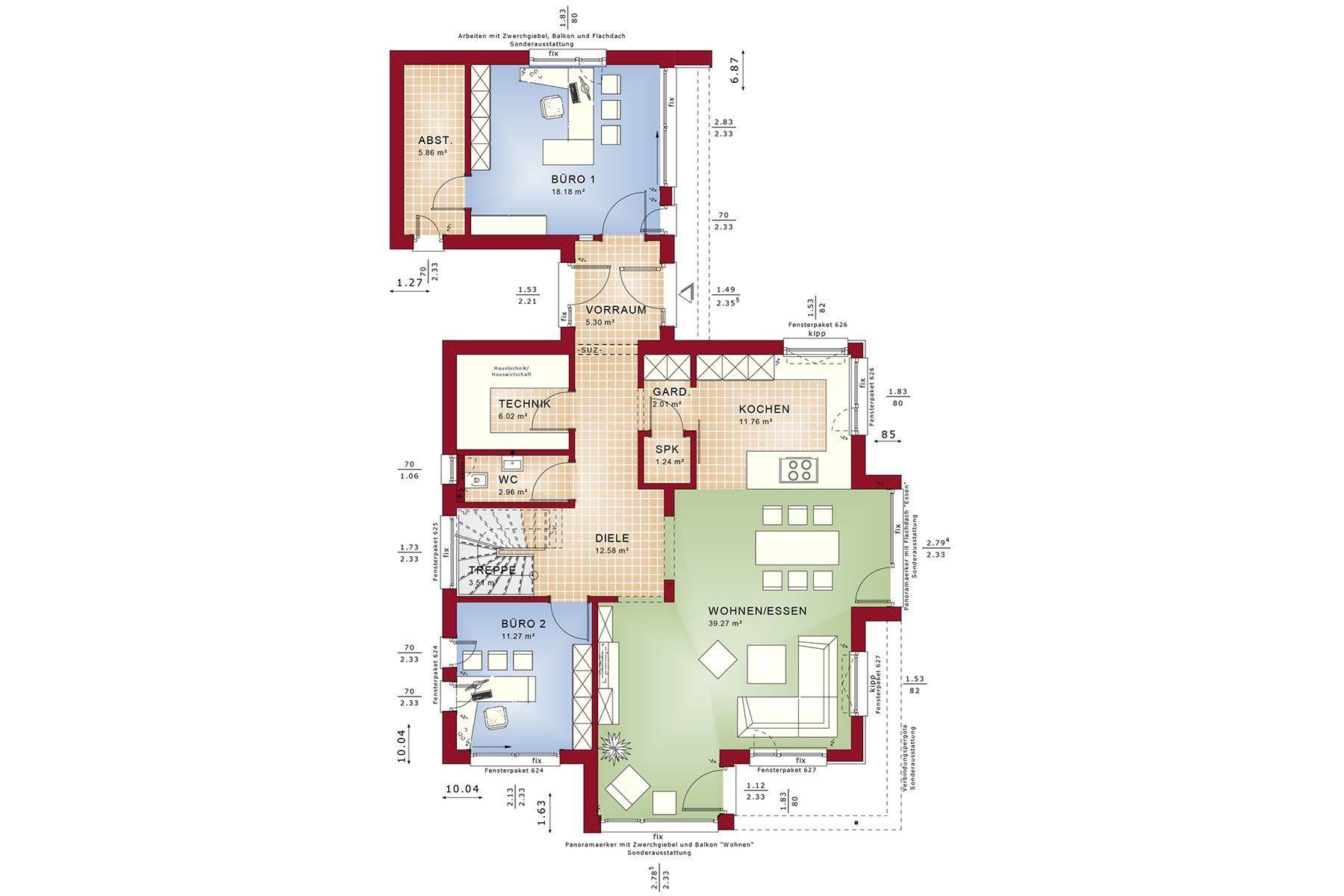 CONCEPT-M 166 Erfurt - Eine Nahaufnahme von einer Karte - Gebäudeplan