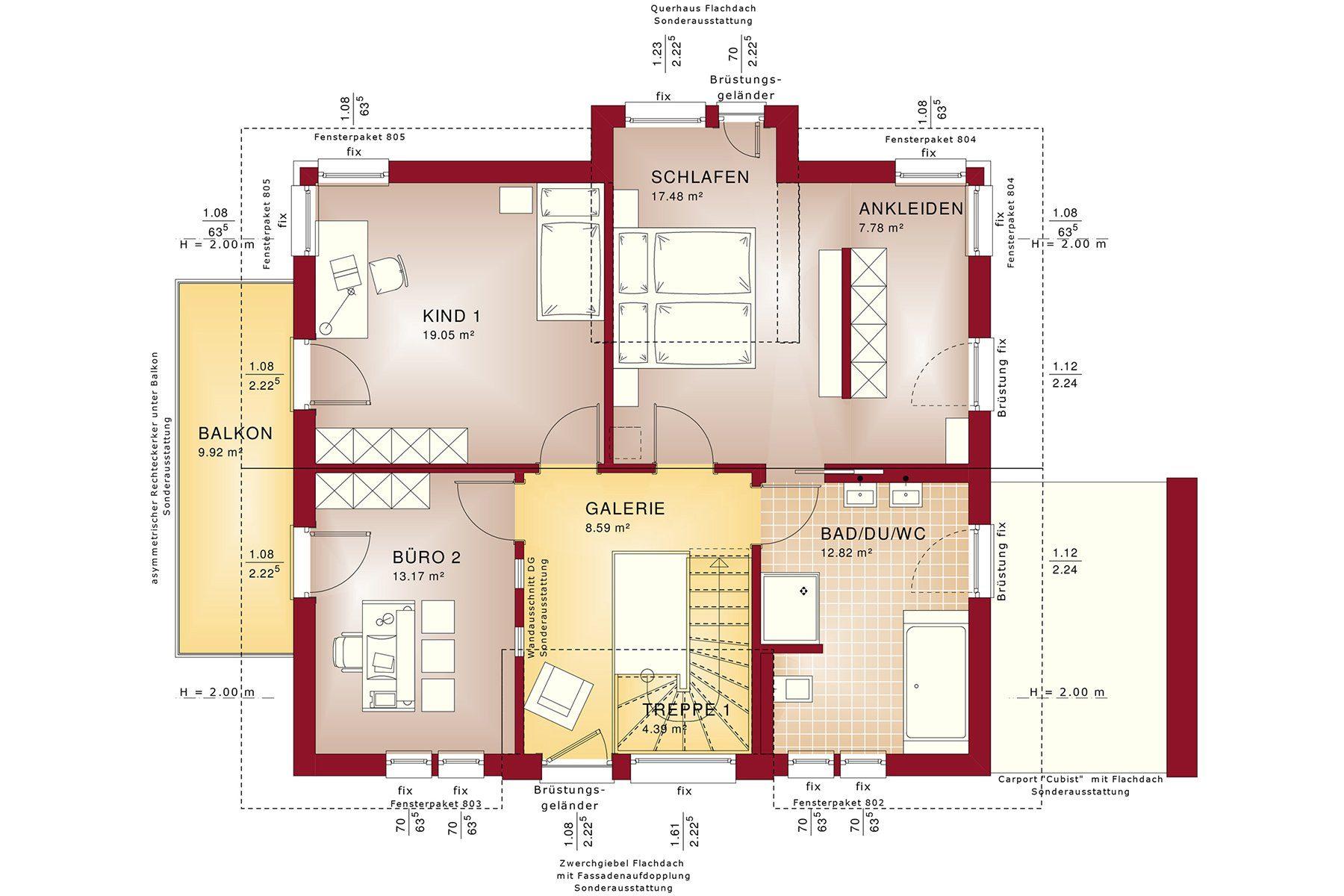 CONCEPT-M 167 Rheinbach - Eine Nahaufnahme von einer Karte - Gebäudeplan