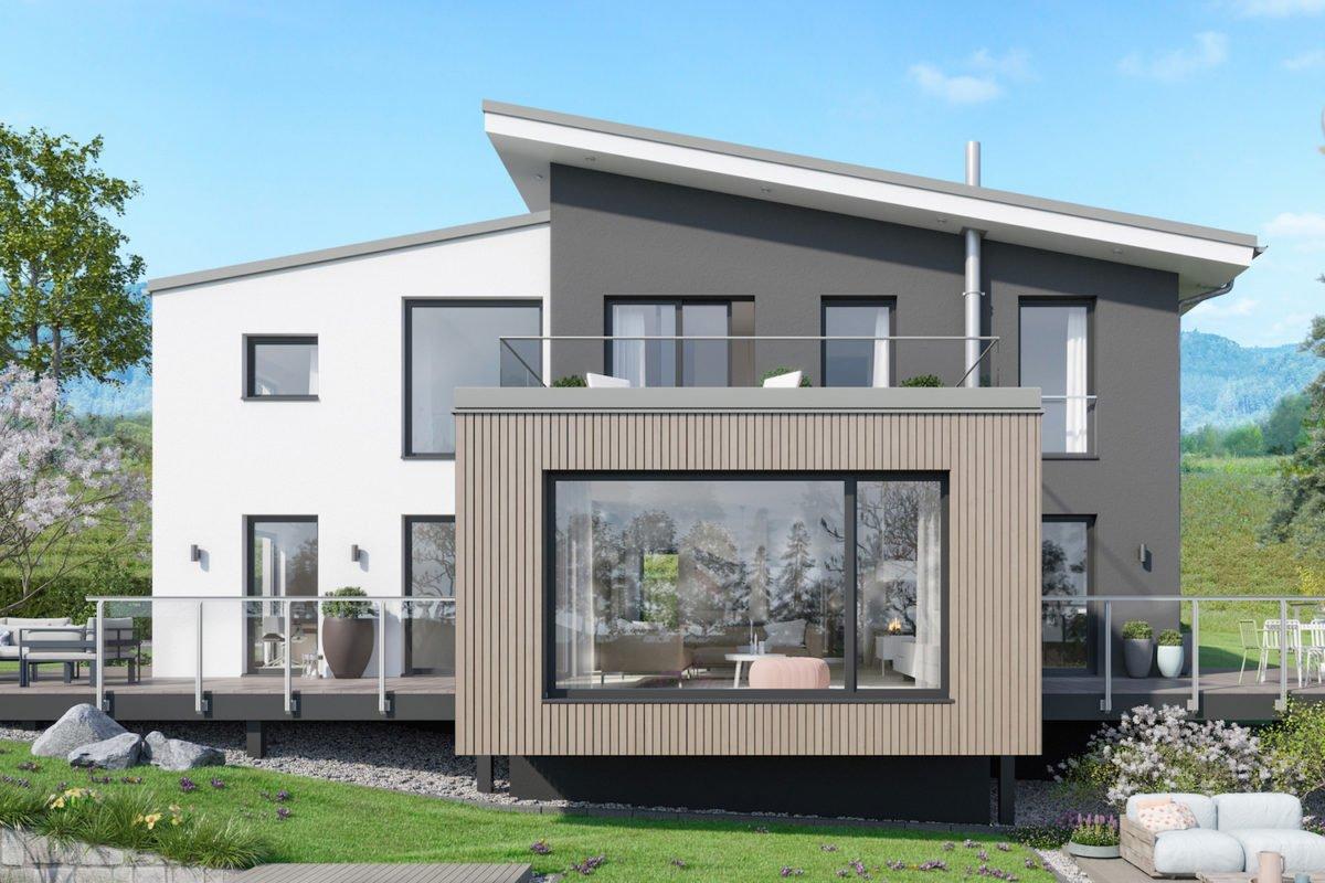 CONCEPT-M 170 Villingen-Schwenningen - Ein großes Backsteingebäude mit Gras vor einem Haus - Bien-Zenker GmbH