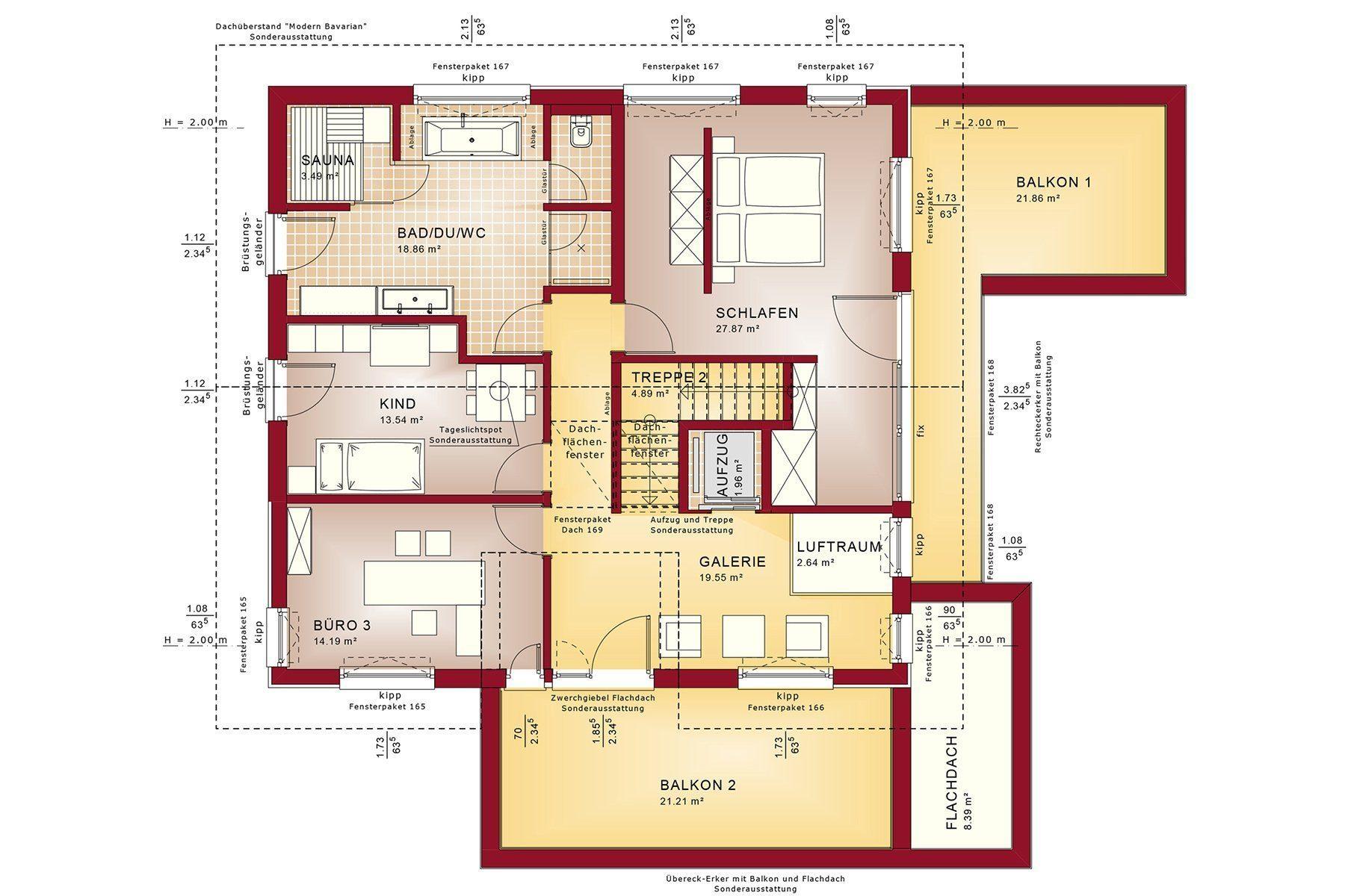 Gebäudeplan - Die Architektur