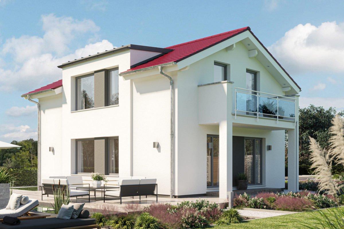 Edition 120 V3 - Ein Haus, das an der Seite eines Gebäudes geparkt ist - Einfamilienhaus