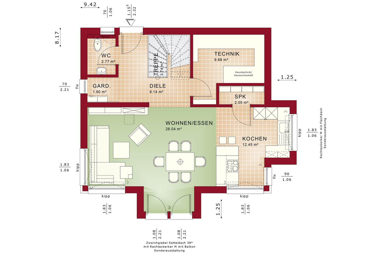 Eedition 125 V2 - Ein Screenshot eines Handys - Gebäudeplan