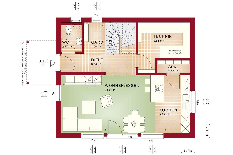 Edition 125 V3 - Eine nahaufnahme von text auf einem weißen hintergrund - Gebäudeplan